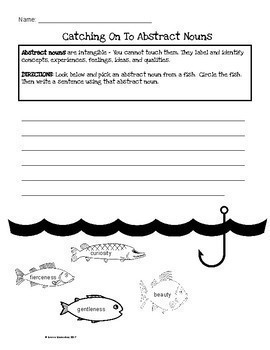 Abstract Nouns: FISHING FOR ABSTRACT NOUNS 3rd Grade