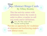 Abstract Nouns Bingo Vocabulary Development Fun Activity to Print and Use!