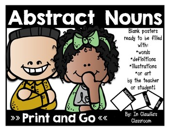 Abstract Nouns Blank Posters