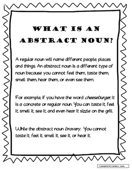 Abstract Nouns Book w/3D Pop-Up Cover