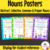 Abstract Nouns, Collective Nouns, Common Nouns, Proper Nouns Posters