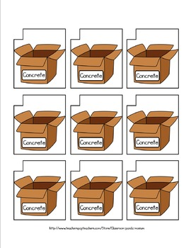 Abstract Nouns File Folder Activity