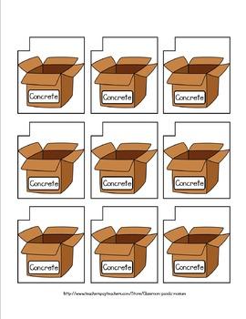 Abstract Nouns File Folder Activity