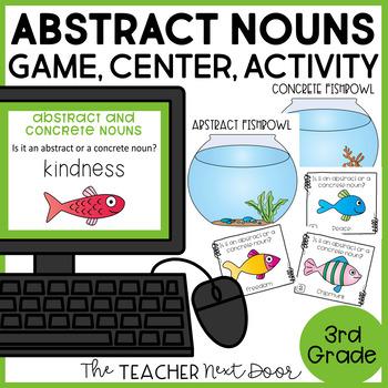 Abstract Nouns Game   Abstract Nouns Center   Abstract Nouns Activities