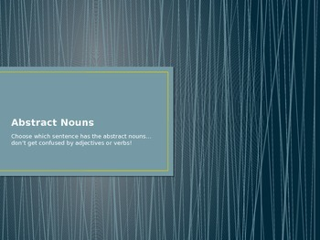 Abstract Nouns PWP