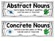 Abstract Nouns: Third Grade! CCSS L.3.1c