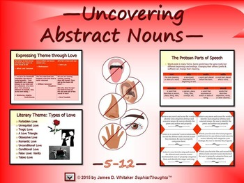 Abstract Nouns Unit Resource and PowerPoint Bundle