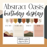 Abstract Oasis Birthday Board Classroom Display