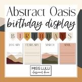 Abstract Oasis Birthday Board Classroom Display