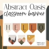 Abstract Oasis Build Your Own Classroom Banner