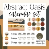 Abstract Oasis Classroom Calendar Set