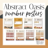 Abstract Oasis Classroom Decor Number Posters