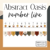Abstract Oasis Classroom Number Line for Wall
