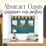 Abstract Oasis Classroom Rules {Editable Posters}