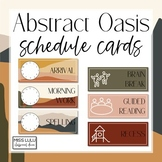 Abstract Oasis Classroom Schedule Cards