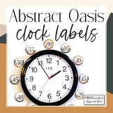 Abstract Oasis Clock Labels | Clock Helpers