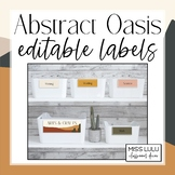 Abstract Oasis Editable Classroom Labels