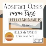 Abstract Oasis Name Tags {Editable} Classroom Decor