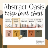 Abstract Oasis Classroom Decor Noise Level Chart