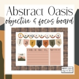 Abstract Oasis Objectives & Focus Board {Editable}