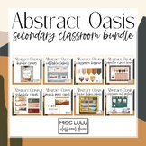 Abstract Oasis Secondary Classroom Decor Bundle