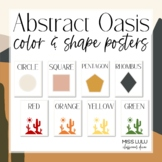 Abstract Oasis Shape and Color Posters