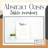 Abstract Oasis Table Numbers Classroom Decor