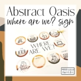 Abstract Oasis Where Are We? Door Sign