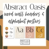 Abstract Oasis Word Wall Headers & Alphabet Posters