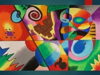 Abstract Art Lesson - Abstract Oil Pastel Composition