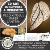 Abstract Reed and Tissue Paper Lantern Sculpture: Light Art for Middle or High
