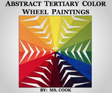 Abstract Tertiary Color Wheel Paintings