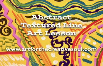 Abstract Textured Line Art Lesson