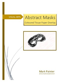 Abstract Theatre Masks, with coloured tissue overlay