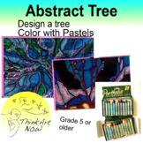 Abstract Trees in Oil Pastels