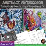 Abstract Watercolor Exploration Art Lesson