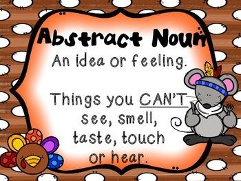 Abstract and Concrete Noun Sort