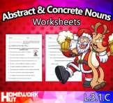 Abstract and Concrete Nouns Worksheets