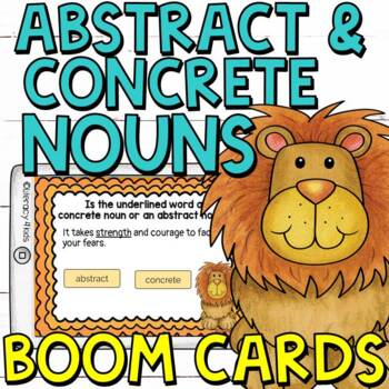 Abstract and Concrete Nouns Boom Cards (Digital Task Cards)