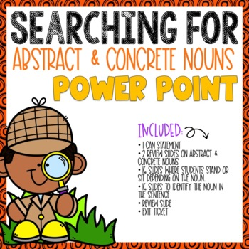 Abstract and Concrete Nouns Power Point