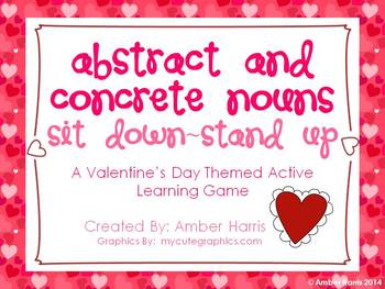 Abstract and Concrete Nouns Sit Down Stand Up Active Learn