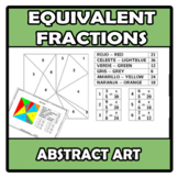 Abstract art - Equivalent fractions - Fracciones equivalentes
