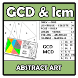 Abstract art - GCD & lcm - MCD & mcm