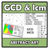 Abstract art - GCD & lcm - MCD & mcm