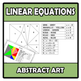 Abstract art - Linear equations - Ecuaciones lineales