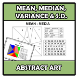 Abstract art - Mean, median, variance and standard deviati