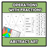 Abstract art - Operations with fractions - Operaciones con