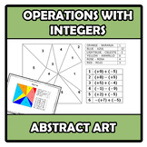 Abstract art - Operations with integers - Operaciones con enteros