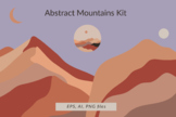 Abstract mountains kit