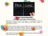 Abstract verbal reasoning - advantages and disadvantages